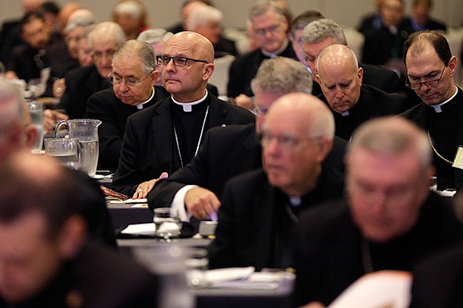 The U.S. Conference of Catholic Bishops, shown in New Orleans in June, voted in November to tighten its rules on partnerships and collaborations between Catholic and non-Catholic health care providers. Photo courtesy ProPublica, Gerald Herbert/AP Photo