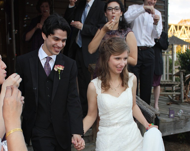 Sophia Halkias married Neil Maneck at the Mississippi Agriculture and Forestry Museum Nov. 29, 2014. Photo courtesy Sophia Halkias