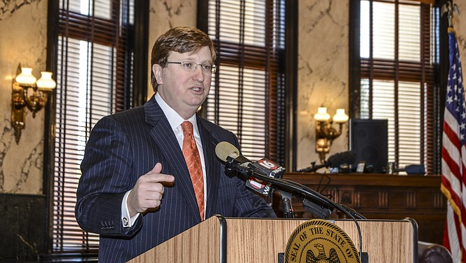 Lt. Gov. Tate Reeves held a press conference at the Capitol Monday morning to discuss his plans for the 2015 session, which include tax cuts, making changes to the Mississippi Adequate Education Formula and requiring transparency from public hospitals.