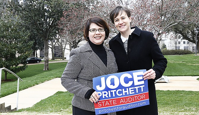 Joce Pritchett (left) and her wife, Carla Webb (right), are among plaintiffs currently fighting against Mississippi's same-sex marriage ban. Pritchett and Webb married in Maine in 2013 and have two children, but their marriage has not been recognized under state law.