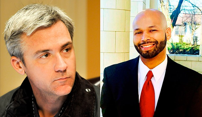 Quentin Whitwell (left), a Republican lawyer and lobbyist, and Walter Zinn (right), a Democratic attorney and political strategist, are vying for an open congressional seat in north Mississippi but have differing views on their relationship to Jackson.