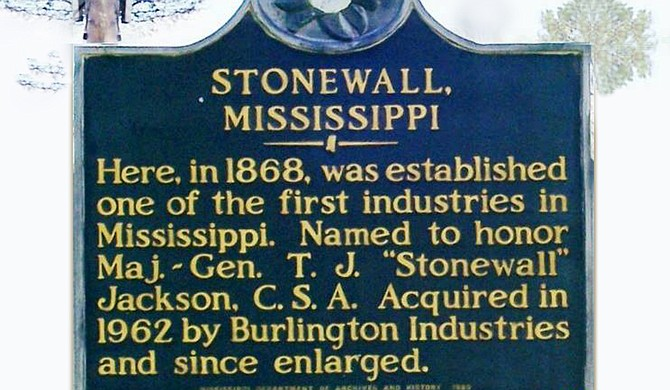 "In Stonewall, named for Confederate General Thomas Jonathan ""Stonewall"" Jackson, the racial demographic breakdown—75 percent white and 24 percent black—doesn't quite mirror the state's overall population, which is 37 percent black. Photo courtesy Facebook"