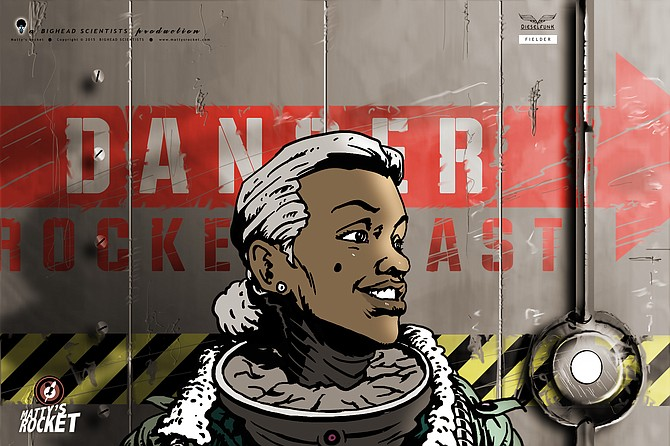 "Tim Fielder's ""Afro-futurism"" tale combines sci-fi and real-world elements, including World War II, the Harlem Renaissance, the Underground Railroad and Bessie Coleman, the first African American female pilot. Photo courtesy Dieselfunk Studios"