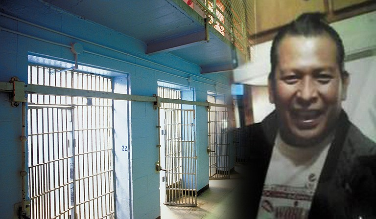 Photo illustration: Rexdale Henry (right) was active in the Bogue Chitto community as a stickball and softball coach. Henry was also a candidate for the Choctaw Tribal Council from Bogue Chitto the week before his arrest on July 9. Photo of Rexdale Henry from Twitter, jail from clip art.