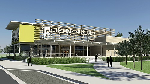 Design for the Grammy Museum Mississippi exterior - Courtesy of Grammy Museum Mississippi