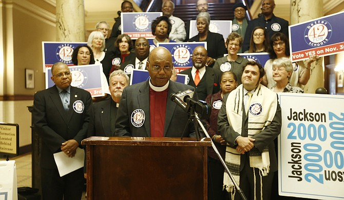 Bishop Joseph Campbell, the vice chair of the Mississippi Religious Leadership Conference board of directors, said he is in support of Initiative 42 to sever the ties of the school-to-prison pipeline.
