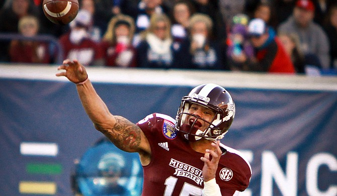 While his last season at Mississippi State University is coming to an end, quarterback Dak Prescott has made a lasting mark on the Bulldogs with career heights that rival the best players in SEC history. Photo courtesy Mississippi State University Athletics