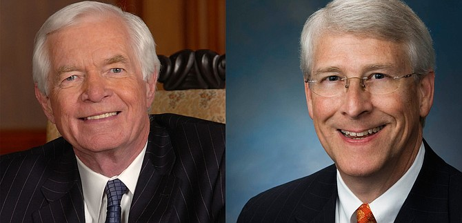 Mississippi Sens. Thad Cochran (left) and Roger Wicker (right) voted against a background check bill one day after a mass shooting left 14 dead in California. Photo courtesy U.S. House of Representatives