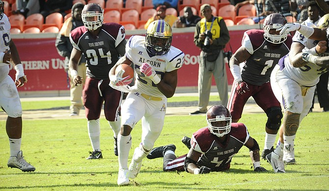 For SWAC champion Alcorn State University's game against North Carolina A&T University in the Celebration Bowl, it has a few weapons, such as running back Darryan Ragsdale, at the ready. Photo courtesy Alcorn Athletics