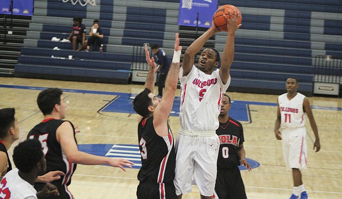 Tougaloo College's Quintarious Porter is currently averaging 20.1 points per game. Photo courtesy Tougaloo Athletics