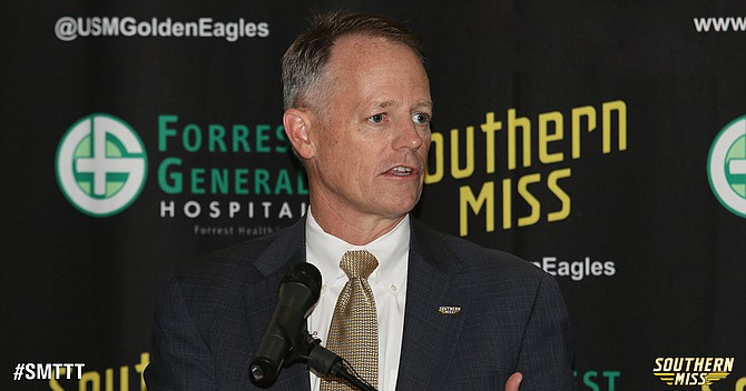 University of Southern Mississippi Director of Athletics Bill McGillis is about to make the biggest hire since he took his position in 2013. The university needs to replace its departing coach—who was finally getting the team on track. Photo courtesy USM Athletics