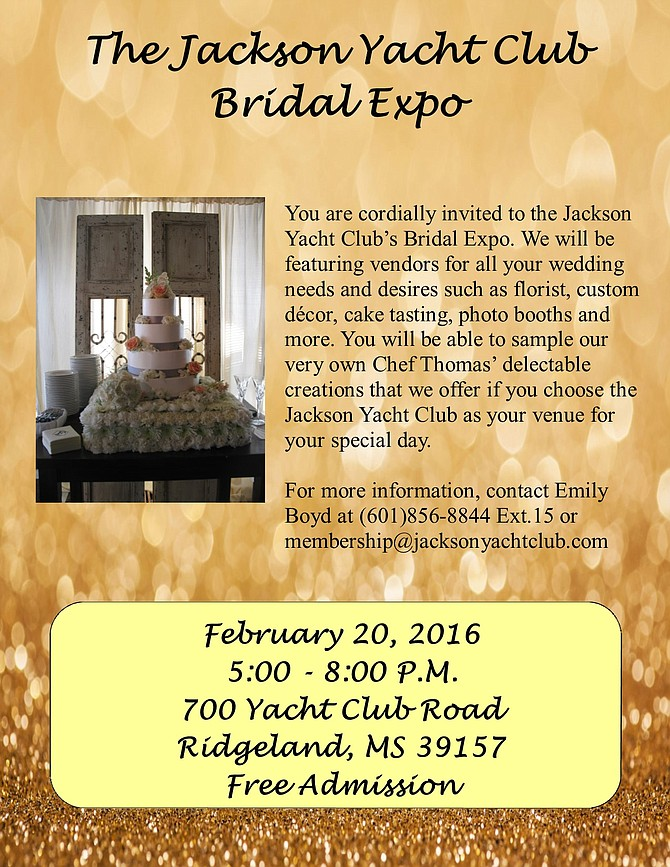 The jackson yacht club bridal expo jackson free press jackson ms from the press release wedding social junglespirit Images