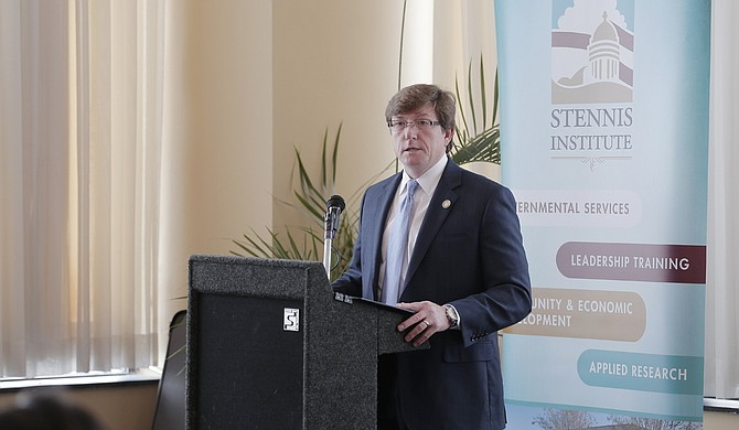 Rep. David Baria, D-Bay St. Louis, spoke to the Stennis Capitol Press Forum about the House Democratic Caucus' priorities for the 2016 legislative session.