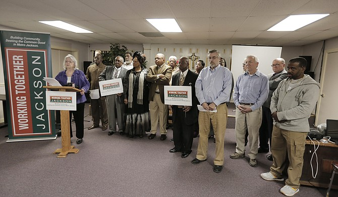 "Working Together Jackson board members spoke out against the airport ""takeover"" bill on Feb. 17."