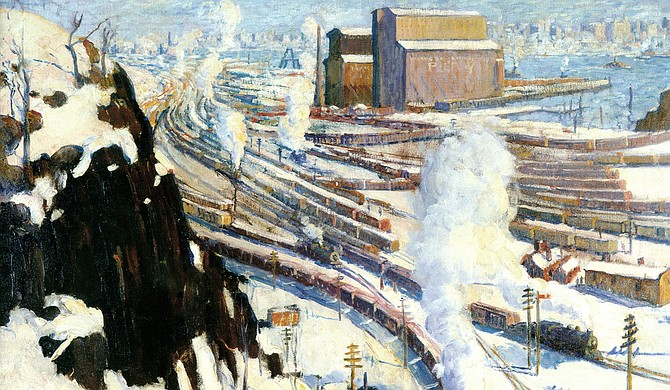 "The exhibit ""Leon Kroll's 'Terminal Yards' and Artists from the Armory Show"" runs through Sept. 4 at the Mississippi Museum of Art. Photo courtesy Mississippi Museum of Art"
