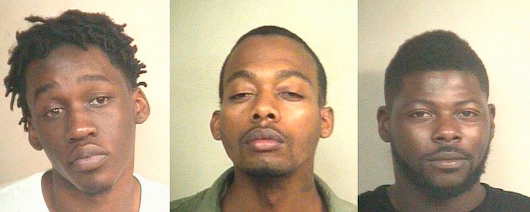 JPD urges anyone with information on (left to right) Anthony Harris, Kendrick Morris, Shawn Trotter or any crime tips to call the Jackson Police Department at 601-960-1234 or 601-355-TIPS.