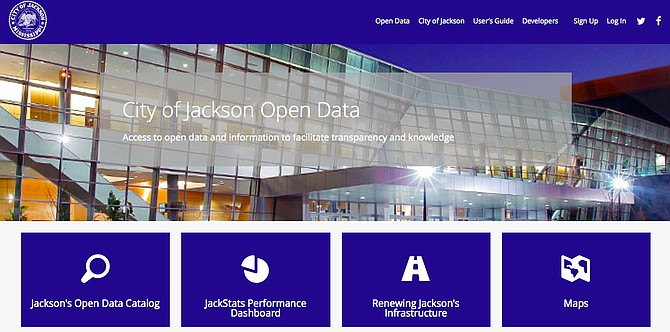 "The front page of the City's new ""transparency"" website will include data sets focusing on some of the most pressing issues in the minds of Jackson citizens, including infrastructure repairs. Photo courtesy City of Jackson"