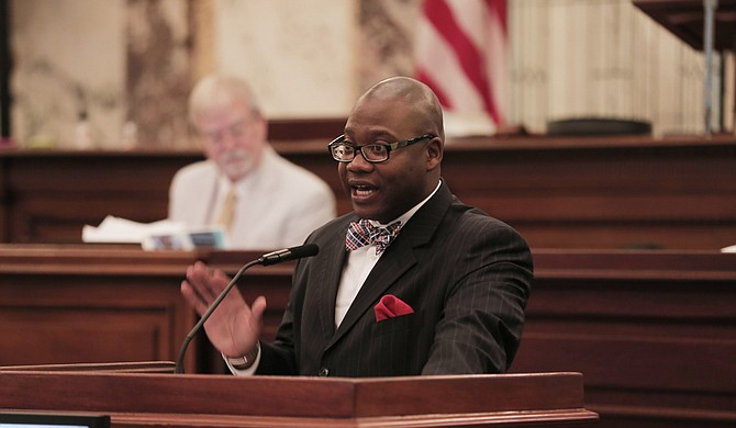 Sen. Derrick Simmons, D-Greenville, presented Senate Bill 2169 on the floor last week, which will increase the punishments for possession and intent to sell synthetic cannabinoids. File Photo.