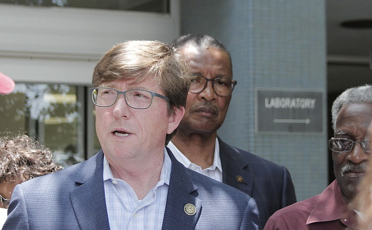 House Minority Whip Rep. David Baria, D-Bay St. Louis, along with Senate Democratic leadership, denounced budget cuts to the state's health department on May 25.