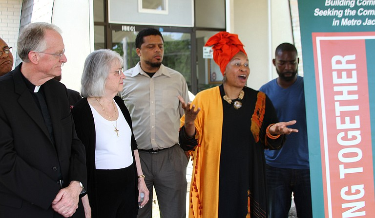 Okolo Rashid of the International Museum of Muslim Cultures and other members of the Working Together Jackson group encourage all members of the community to join them Monday for an inquiry session with Mayor Tony Yarber.