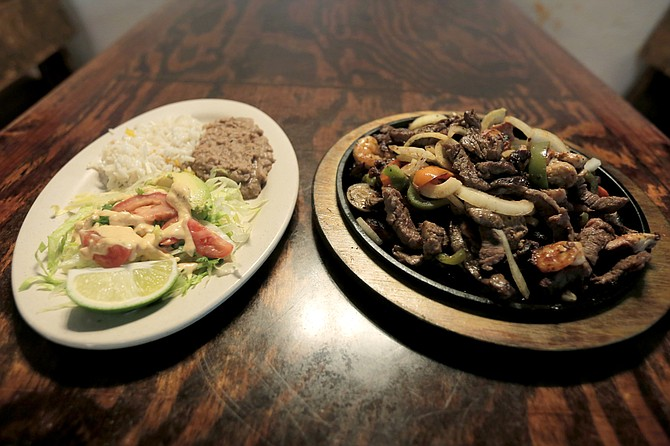 Fajitas are one of the popular dishes at El Sabor Latin Cuisine.