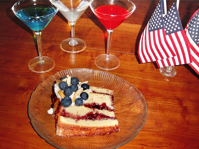 Serve patriotic cocktails and dessert this Fourth of July. Photo courtesy Jane Flood