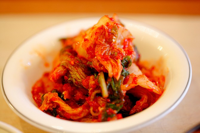 Kimchi is a Korean side dish made from fermented vegetables that is a great source of priobiotics. Photo courtesy Flickr/Haynes
