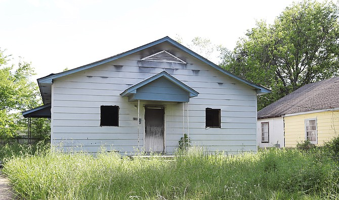 Ward 2 Councilman Melvin Priester Jr. wrote a resolution that passed unanimously, urging more cooperation with the State of Mississippi to add additional blighted properties to the Neighbor's First program. Pictured is an abandoned home at 2101 Florence Ave. in the Washington Addition.
