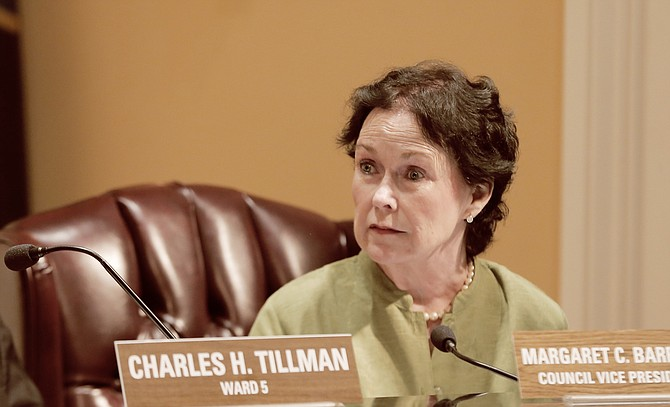 Vice President and Ward 7 Councilwoman Margaret Barrett-Simon did not vote to go into executive session at Tuesday's meeting, stating that the questions she asked while the meeting was still open were important but never answered.