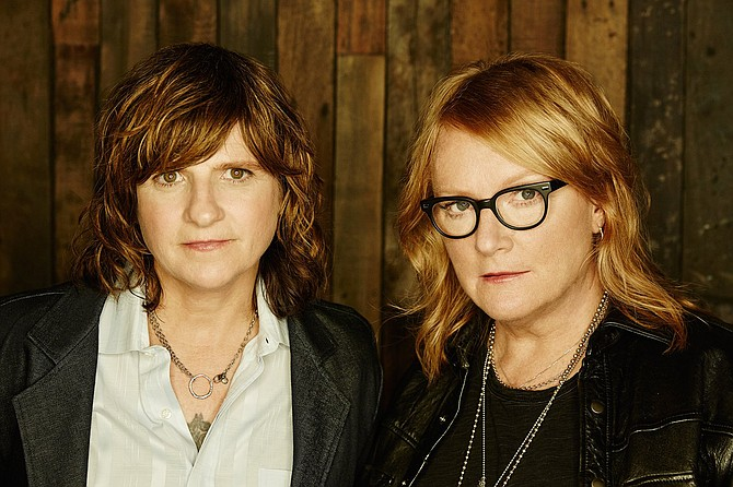 (Left to right) Amy Ray and Emily Saliers of the Indigo Girls perform Sept. 13-14 at Duling Hall. Source: Interview with Emily Saliers - Saturday, Aug. 13, at 4 p.m. Photo courtesy Jeremy Cowart