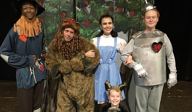 "(Left to right) Bradley Davis, Tommy Chevelle, Hannah Brady, JJ Shipman and (bottom) Cece Johnson star in the Center Players Community Theatre production of ""The Wizard of Oz,"" Sept. 29-Oct. 2 at the Madison Square Center for the Arts. Photo courtesy Leslie Saucier"