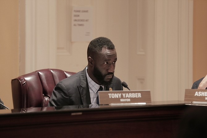 Mayor Tony Yarber and his administration asked the city council to approve a final adjustment to the City's budget to cover overtime expenditures in the police department.