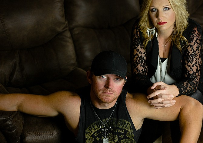 T.J. and Laura-Leigh Burnham front Brandon country band Burnham Road. Photo courtesy JB Lawrence