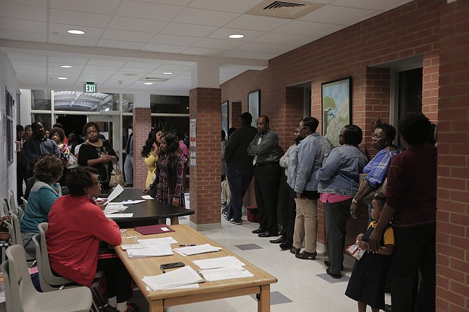 Some Jackson Voters Like The Ones Pictured Here At McWillie Elementary School Polling Precinct