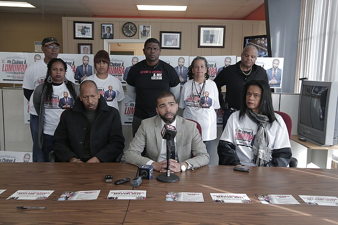 Jackson mayoral candidate Chokwe Antar Lumumba said during a press conference at his campaign headquarters on Dec. 8 that his campaign had no part in the fake websites, RobertGrahamforMayor.com and JohnHorhnforMayor.com, that pushed visitors to his campaign's website.