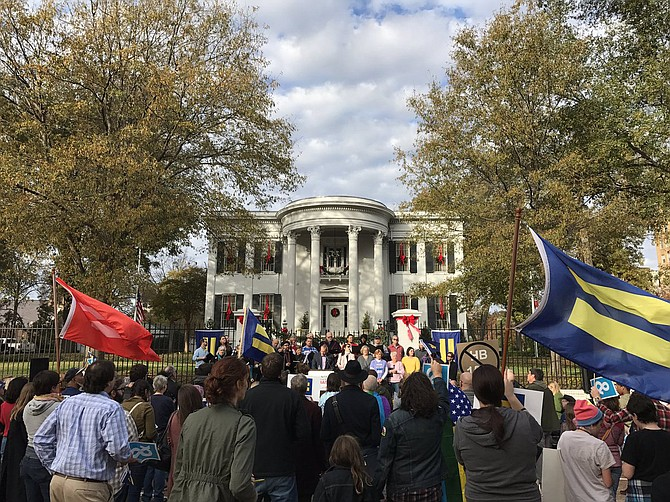More than 200 protesters marched from the Mississippi capitol to the governor's mansion on Dec. 11 to protest the governor's appeal of House Bill 1523. Photo courtesy Nick Morrow