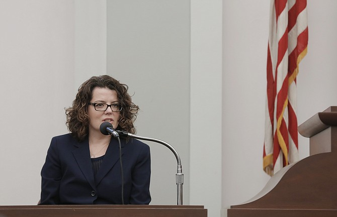 Former special assistant attorney general Melissa Patterson testified for the prosecution this morning in the first day of the trial against Downtown Jackson Partners President Ben Allen.
