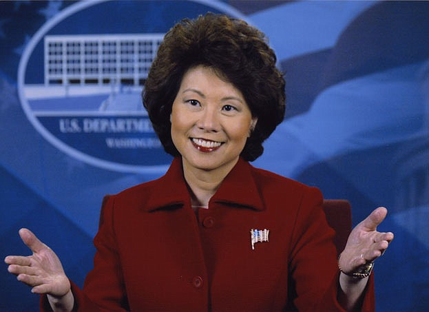 """Elaine Chao, current Transportation Secretary, former Labor Secretary and wife of Senator Mitch McConnell, reportedly accepted $50,000 for a five-minute speech from an Iranian exile group the State Department has called a """"cult-like"""" terrorist group."""