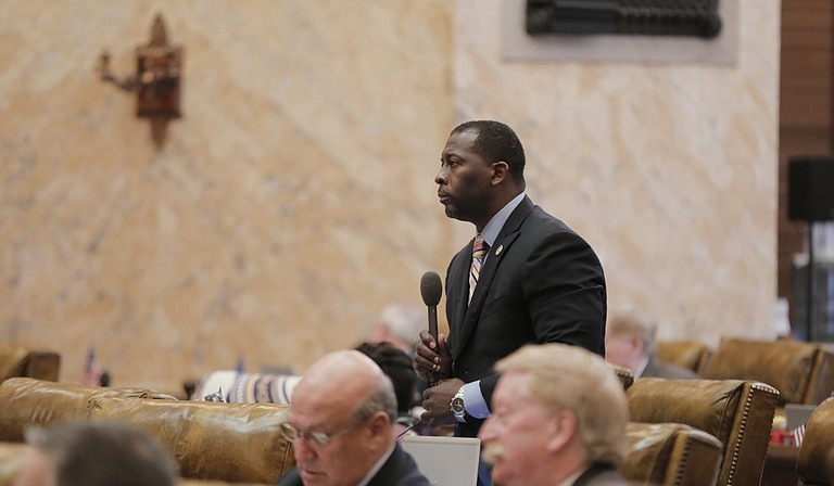 Rep. Chris Bell, D-Jackson, told fellow lawmakers a story of how he was racially profiled on Lakeland Drive.