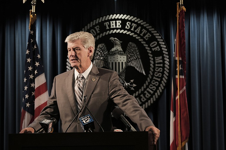 Legislation to give Gov. Phil Bryant (pictured) control of the Department of Mental Health and the state's occupational licensing boards must pass the Senate and the House (respectively) to stay alive.
