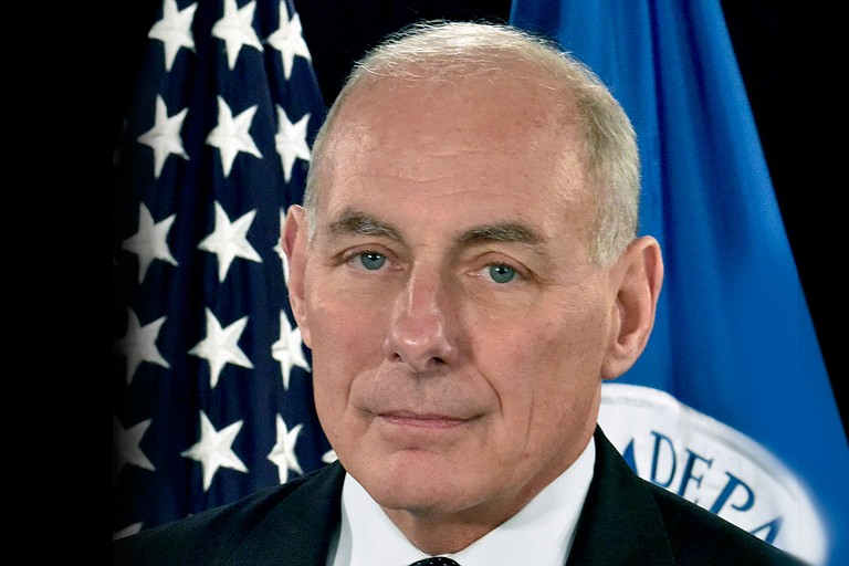 The Homeland Security Department memos, signed by Secretary John Kelly (pictured), lay out that any immigrant living in the United States illegally who has been charged or convicted of any crime—and even those suspected of a crime—will now be an enforcement priority. That could include people arrested for shop lifting or minor traffic offenses. Photo courtesy Official DHS Portrait