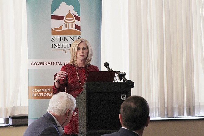 Mississippi Treasurer Lynn Fitch pushed for equal pay for women, financial literacy education for kids and taking care of the state's debt.