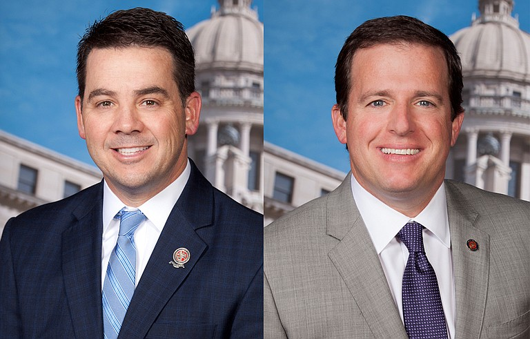 Rep. Chris Brown, R-Nettleton (left), and Rep. Josh Harkins, R-Flowood (right), have authored bills to enhance the state's fraud prevention for those on Medicaid, SNAP or TANF benefits or looking to apply. Photo courtesy MS Legislature