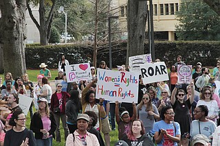 Hundreds of Mississippians gathered at the state Capitol the day after President Donald Trump's inauguration to participate in a sister march to the Women's March on Washington.