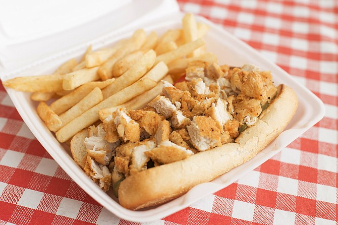 Sugar's Place has dishes such as chicken po'boys.