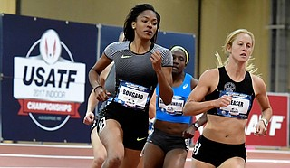 Erica Bougard (left) Photo courtesy USA Track & Field