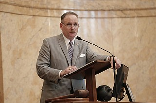"Rep. Mark Baker, R-Brandon, led the way on new property taxes to help for the ""One Lake"" project."