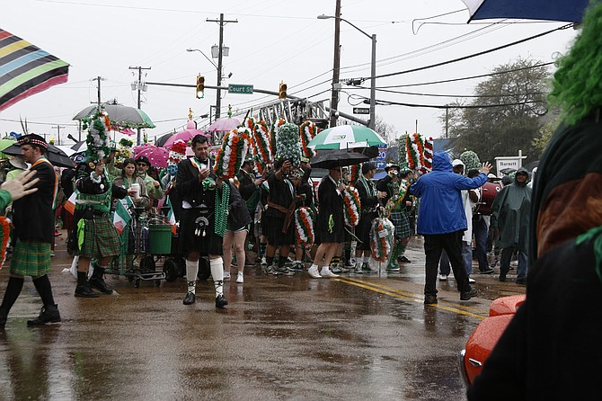 This year's Hal's St. Paddy's Parade & Festival is on Saturday, March 18—led, as usual, by the O'Tux Society.
