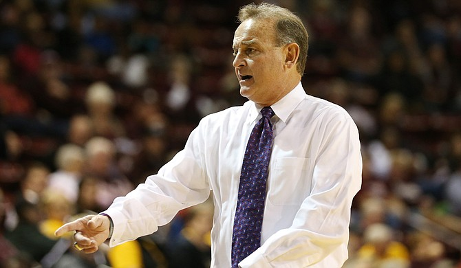 Lady Bulldogs head coach Vic Schaefer Photo courtesy Kelly Price/MSU Athletics