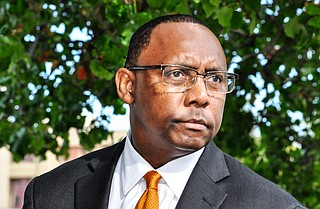 Mississippi Attorney General Jim Hood in February sued 22 people and companies associated with the bribery scheme in 11 separate lawsuits, saying they should repay more than $800 million they received from the state because of bribes taken by Corrections Commissioner Christopher Epps (pictured). Trip Burns/File Photo